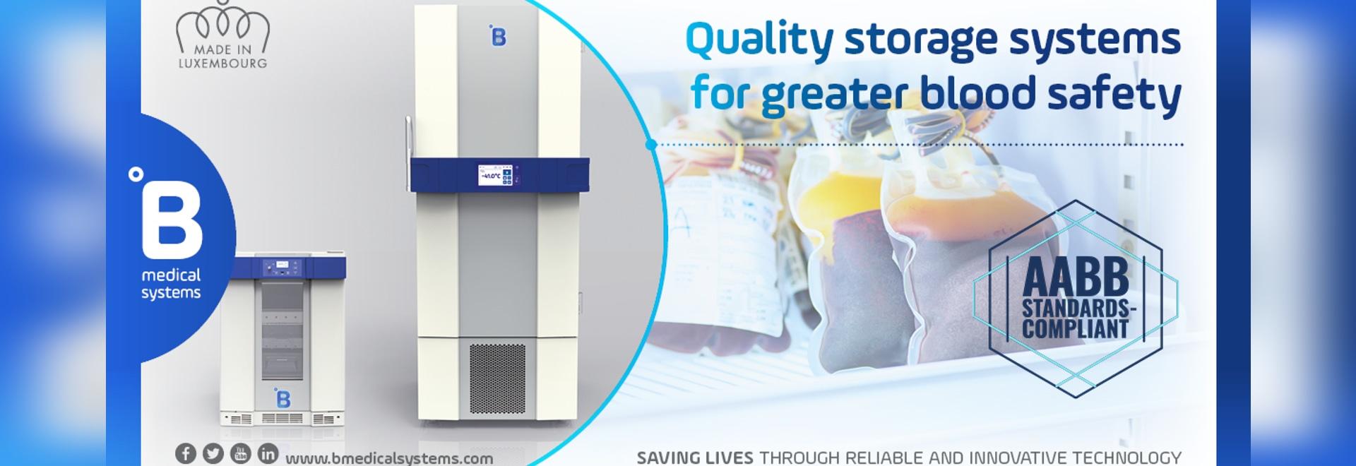 Les solutions de stockage du sang de B Medical Systems officiellement approuvées comme étant conformes aux normes de l'AABB