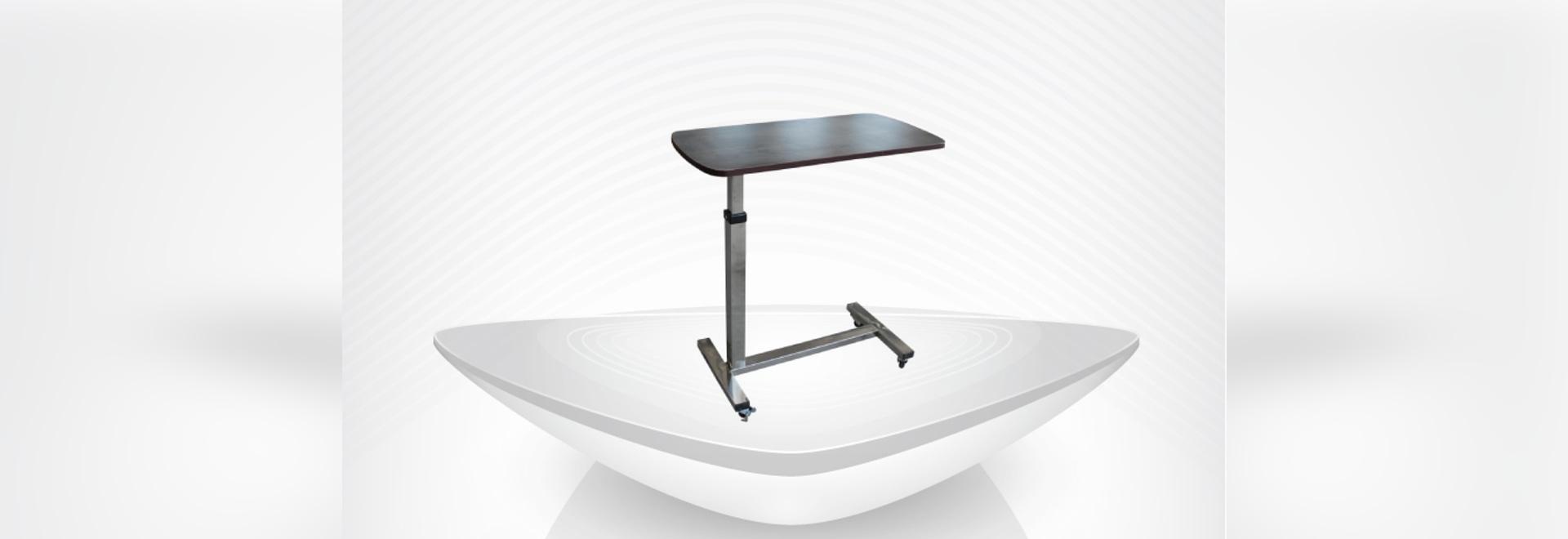 table overbed par hôpital réglable mobile médical de taille/table dinning en bois de conseil