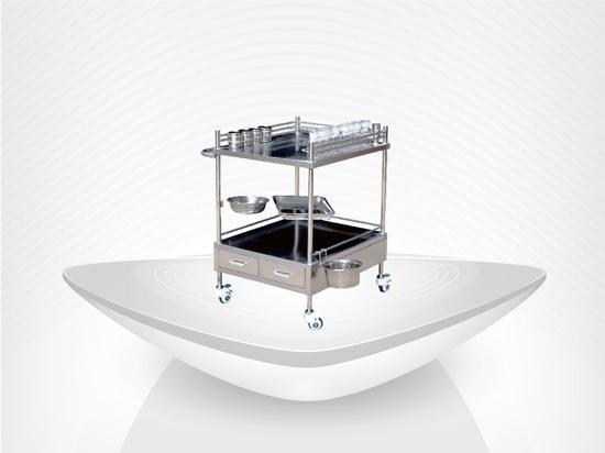 Chariot d'acier inoxydable/chariot de service d'hôpital/chariot/prix concurrentiels traitement médical