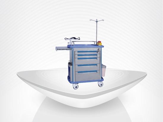 Chariot de secours/chariot bon marché à secours d'ABS d'hôpital des prix/funtion multiple