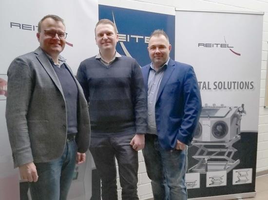 L'équipe de vente de Reitel : Christian Rösch, Waldemar Mohr et Christoph Ast