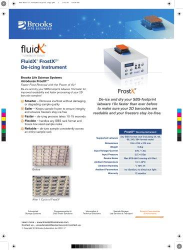 FrostX Catalogue