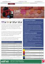Incinérateur de déchets cliniques Addfield C200 - Fiche technique