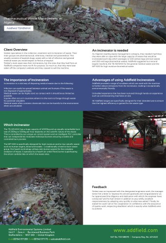 Pharmaceutical Waste Management in Algeria