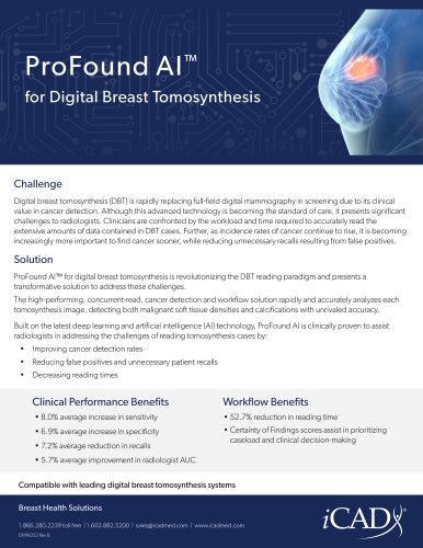 ProFound AI™ for Digital Breast Tomosynthesis