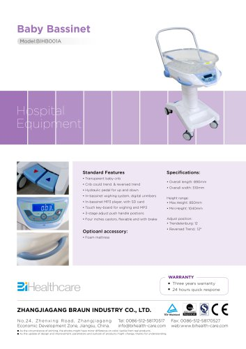 Brochure_Baby Bassinet(BIHB001A)_BI Healthcare