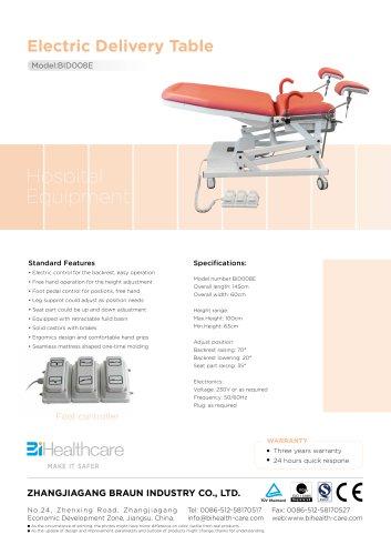 Brochure_Electric delivery table(BID008E)_BiHealthcare