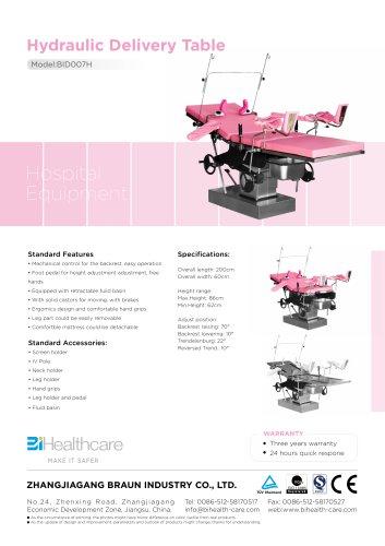 Brochure_Hydraulic delivery table(BID007H)_BiHealthcare