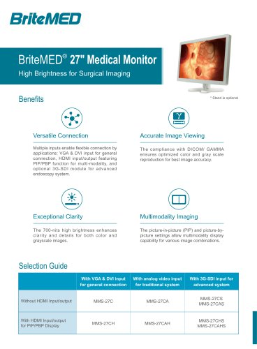 BriteMED Endoscopy Display MMS-27CA