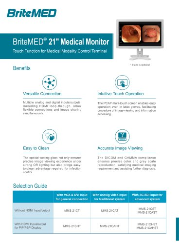 BriteMED Medical Touch Monitor MMS-21CT