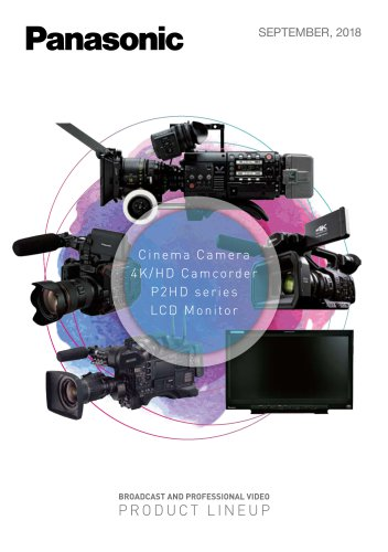 Cinema Camera 4K/HD Camcorder P2HD series LCD Monitor