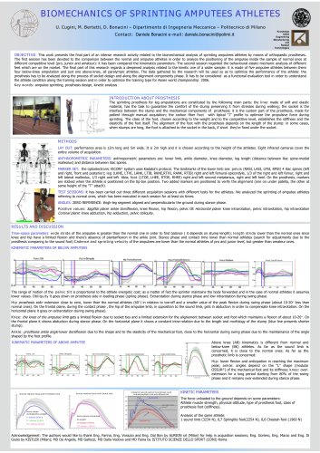 """Biomechanics of sprinting amputees athlets"""