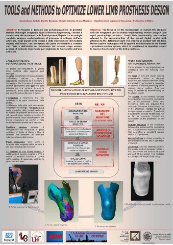 """Tools and Methods to Optimize Lower Limb Prosthesis Design"" XVII INGEGRAF, Anno 2005."