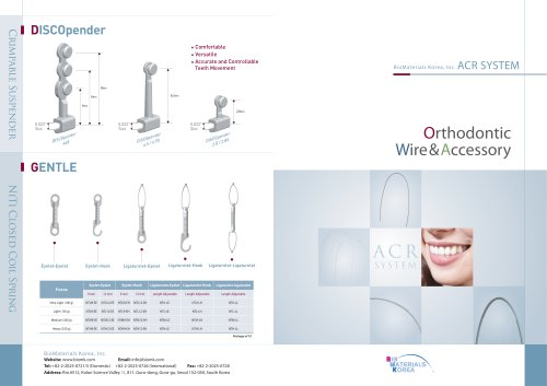 Orthodontic Wire& Accessory