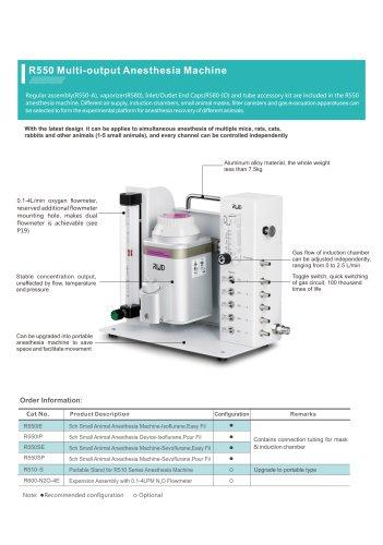 RWD Animal research anesthesia machine R550