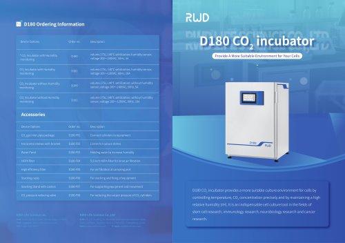 RWD CO2 laboratory incubator D180-P