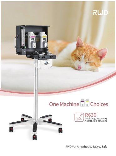 RWD Dual-drug Veterinary Anaesthesia machine R630