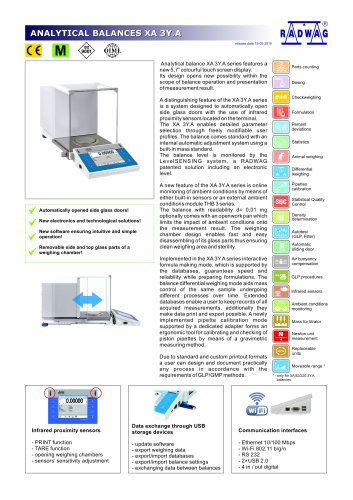 ANALYTICAL BALANCES XA 3Y.A