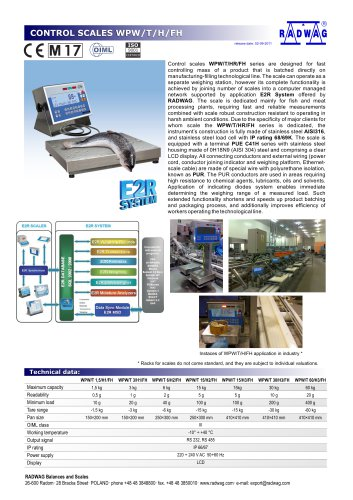 CONTROL SCALES WPW/T/H/FH