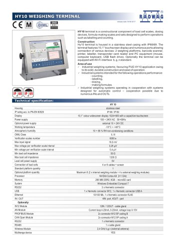 HY10 WEIGHING TERMINAL