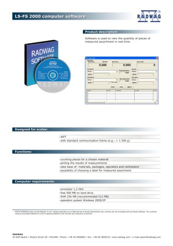LS-FS 2000 computer software