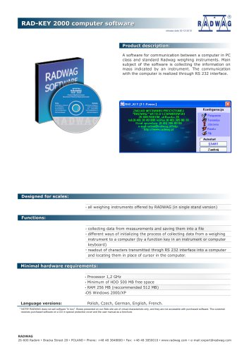 RAD-KEY 2000 computer software
