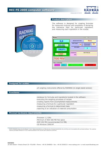 REC-FS 2000 computer software