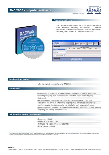 SNC 2005 computer software