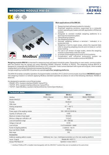 WEIGHING MODULE MW-04