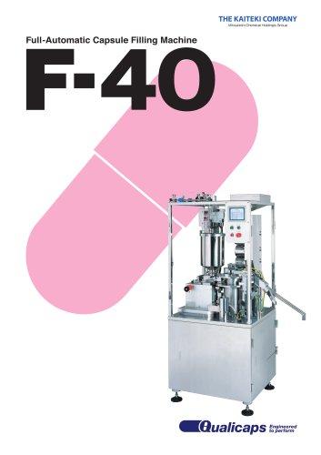 F-40 Fully-Automatic Capsule Filling Machine