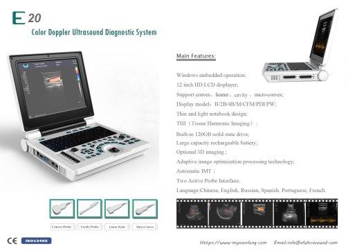 New E20 Notebbok color doppler