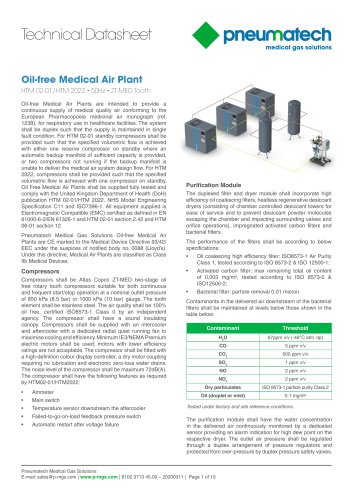 Oil-Free Tooth Medical Air Systems 50 Hz