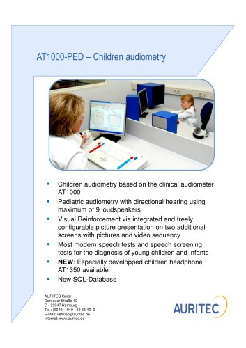 AT1000-PED - CHILDREN AUDIOMETRY
