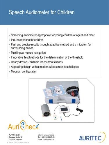 Speech Audiometer for Children