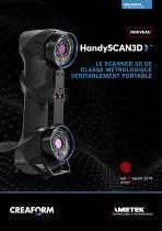 HandySCAN 3D: Scanner 3D pour le contrôle qualité et le développement de produits