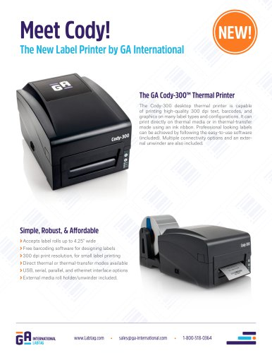 Cody-300™ Thermal Printer