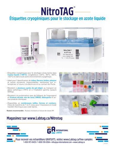 Étiquettes pour le stockage en azote liquide