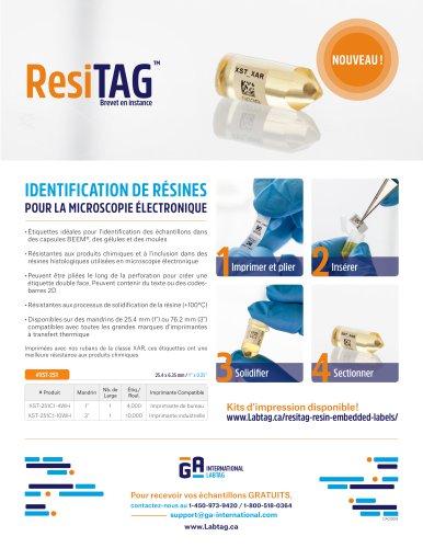 Identification des résines pour la microscopie électronique