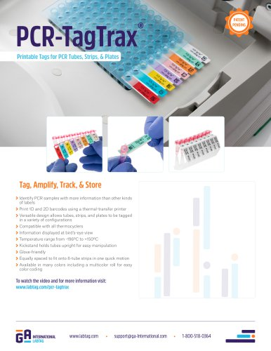 PCR-TagTrax™ Printable Tags for PCR