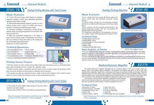 Heat Sealer with Printer EF101-CR