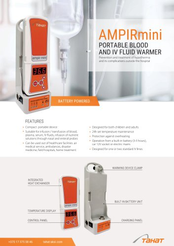 AmpirMini Portable Blood & IV Fluid Warmer