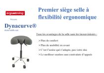 Premier siège selle à flexibilité ergonomique