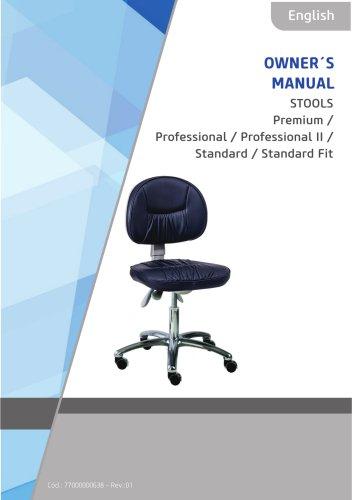 STOOLS Premium / Professional / Professional II / Standard / Standard Fit