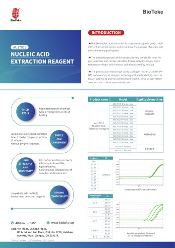 Bioteke/NUCLEIC ACID EXTRACTION REAGENT/AU17012