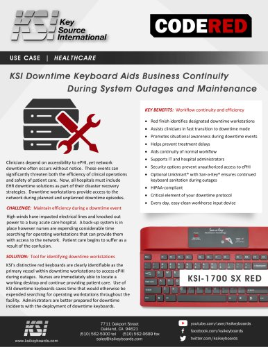 KSI CodeRed Keyboard Use Case