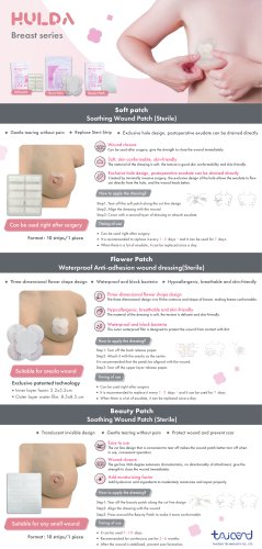For surgical wound dressing after breast surgery