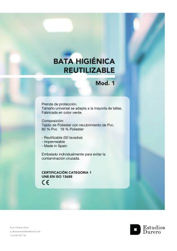 Gown reusable