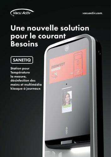 SANETIQ - Distributeur automatique avec contrôle de la température du corps et station de kiosque multimédia