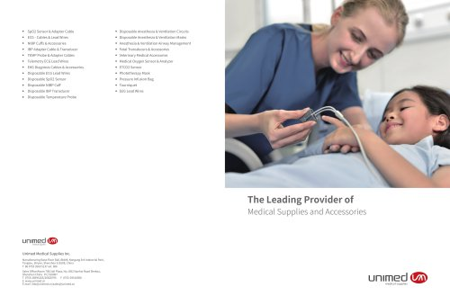 Unimed Catalogue -Patient Monitoring Accessories