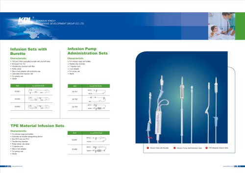 Infusion Sets with Burette